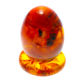 Amber egg with insect for home decor, amber stone kaliningrad