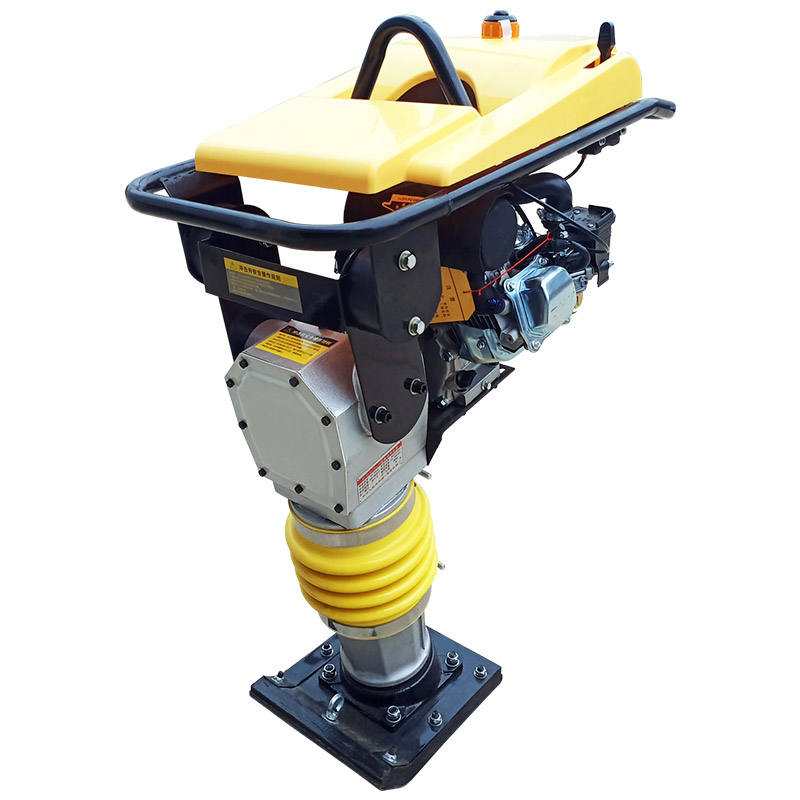 Hand held tamping rammer gasoline engine soil/glazed tile vibrating plate tamper compactor