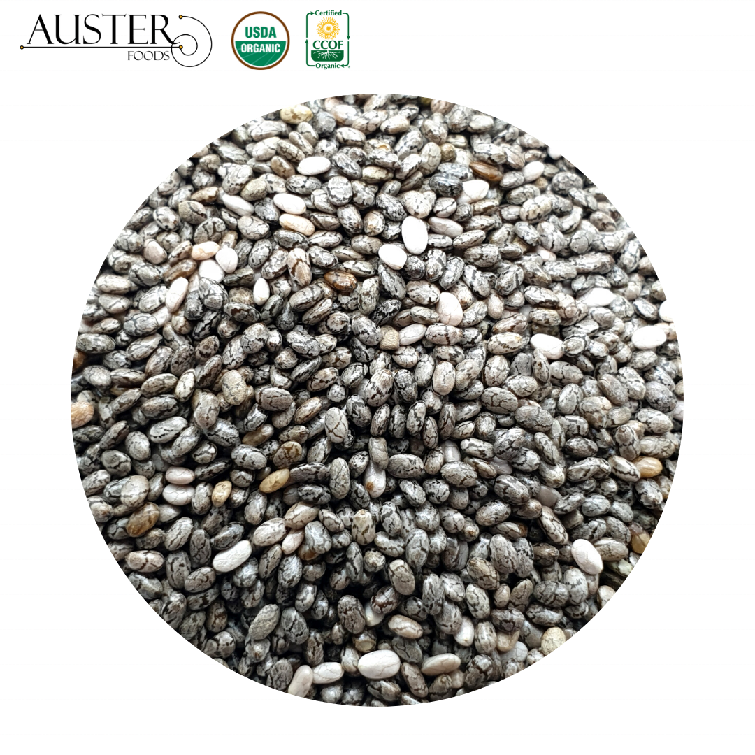Organic Chia Seeds (Stock in the USA. Pallet orders)