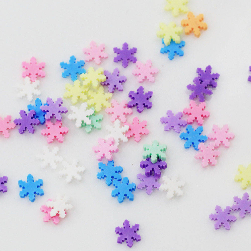 Chinese Yiwu Polymer Clay Soft Pottery Accessories Snowflake Shape Multi Colors for Girls Nail Beauty