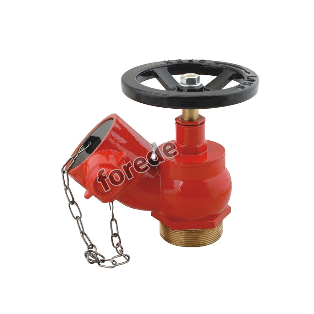 DN65 2.5'' Thread type oblique landing valve for wet riser