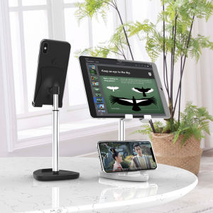 New design adjustable tablet holder aluminium desktop stand cell phone holder