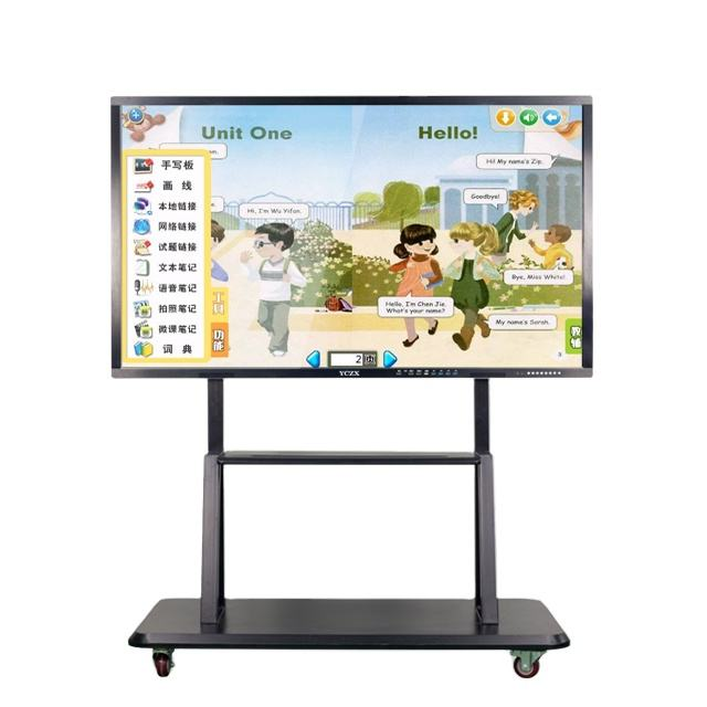 50 inch led portable finger touch interactive whiteboard movable floor stand All-In-One touch electronic whiteboard for kids