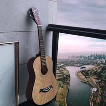 34'' High quality hot sale 6 strings acoustic Guitar factory made by ASH Basswood acoustic guitar oem