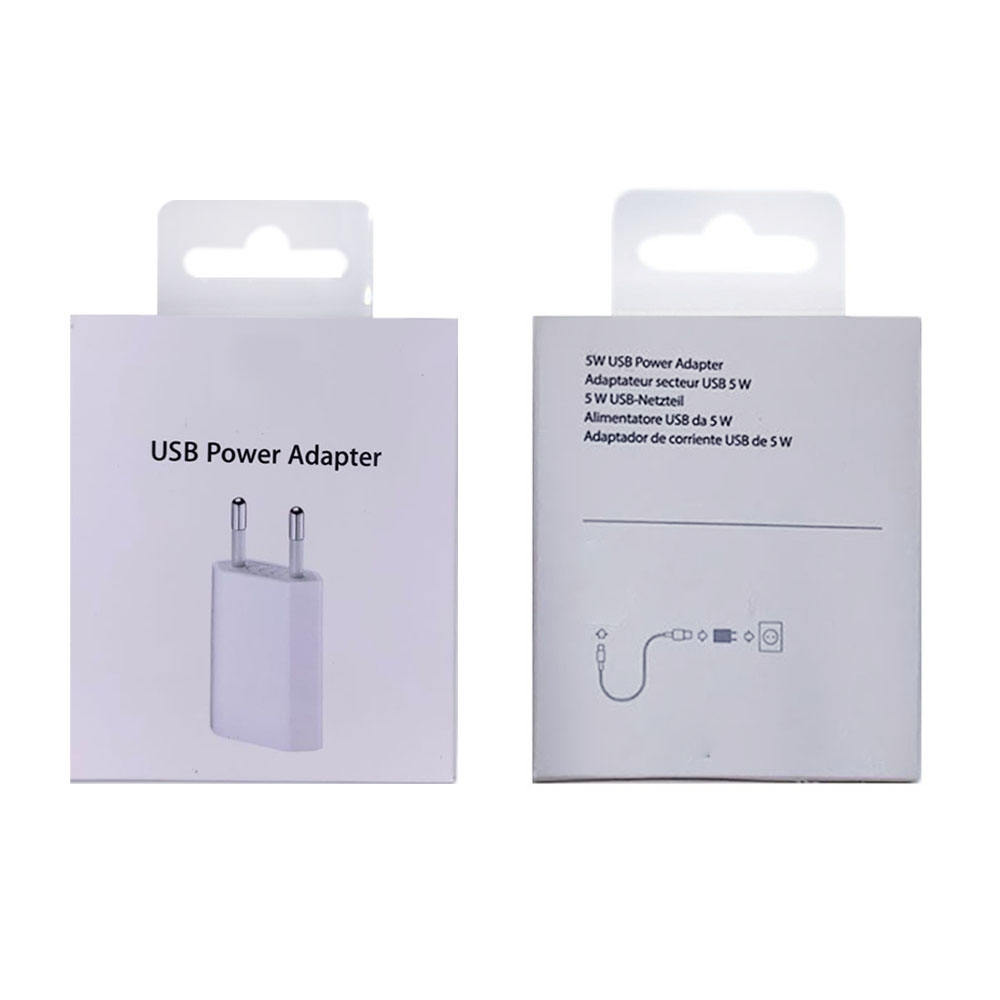 Free shipping High Quality Usb Wall Charger 5W Usb Power Adapter Fast Usb Travel Charger Adapter for Iphone With Retail Package