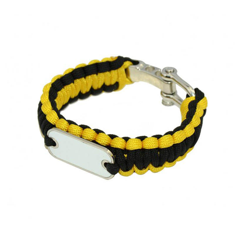 High Quality Cheap Price Customized Design Fashion Heat Press Sublimation Charm Rope Braided Bracelet for Sublimation