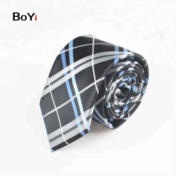 New Design Fashion Customize School Logo Ties Checked Necktie
