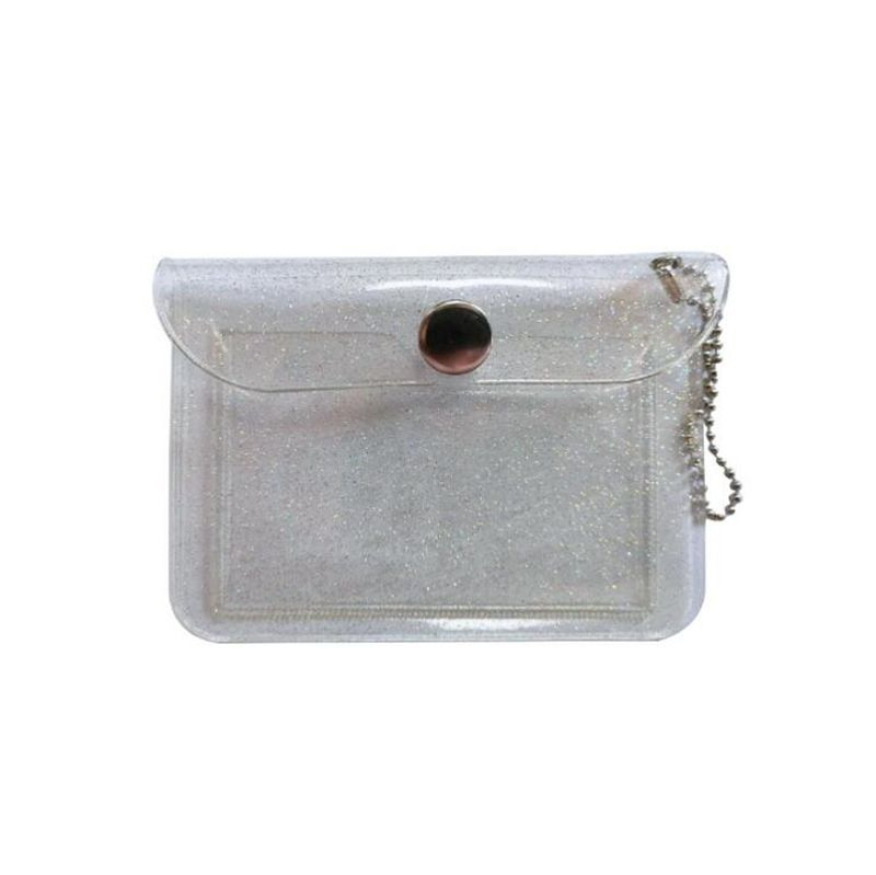 Transparent card bag student portable Public Transport card protector zero wallet