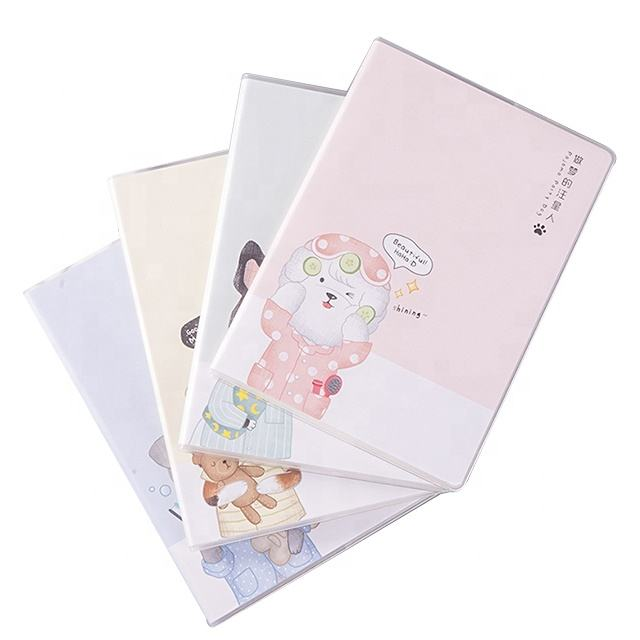 Student plastic cover set soft copybook notebook diary notebook stationery