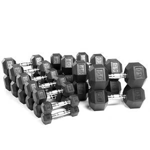 Best Selling Weightlifting Barbell Set Suit for Gym Fitness hex dumbbell