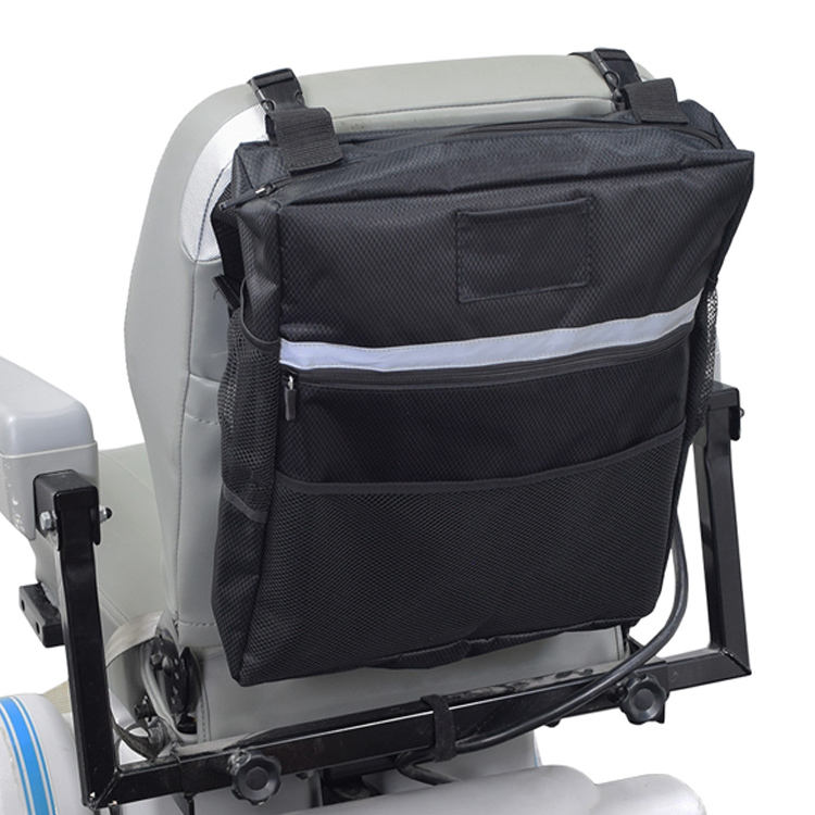 OEM Wheelchair Bag Power Chair Backpack Mobility Scooter Seat Back Bag