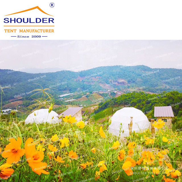 5M diameter luxury big clear roof glamping eco expo hotel transparent geodesic dome tent