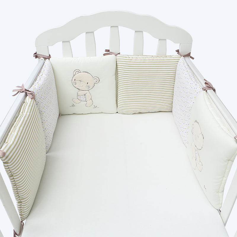 6pcs set toddler breathable cotton anti-collision bed protector cartoon newborn infant cot safety bedding pads baby crib bumper