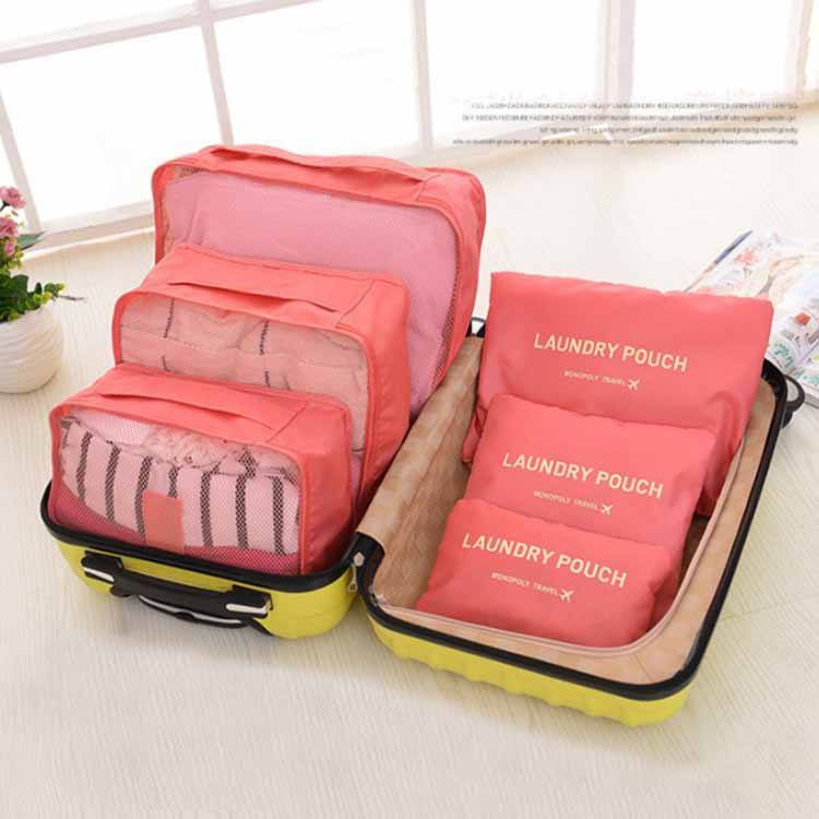 China Cheap Duffle Polyester Pink Laundry Foldable Travel Duffle Underwear Bag