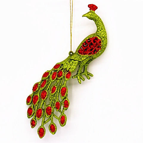 Artificial Plastic Peacock Birds Ornament For Christmas Tree Decor.