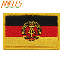 Embroidered International Patch National Flag Of East Germany NEW Flag 1959 To 1990 Flag Patch Badge Sew Or Iron on