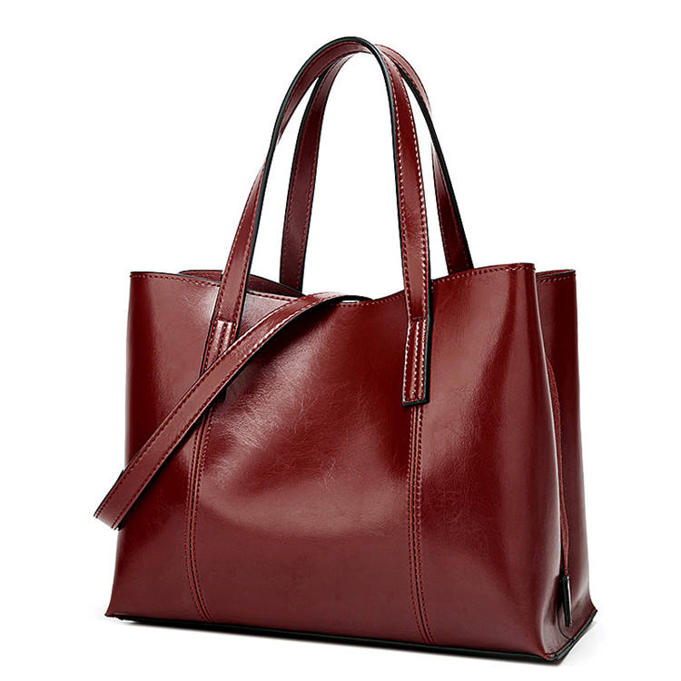 In stock bolsas genuine leather PU ladies women hand bags for women