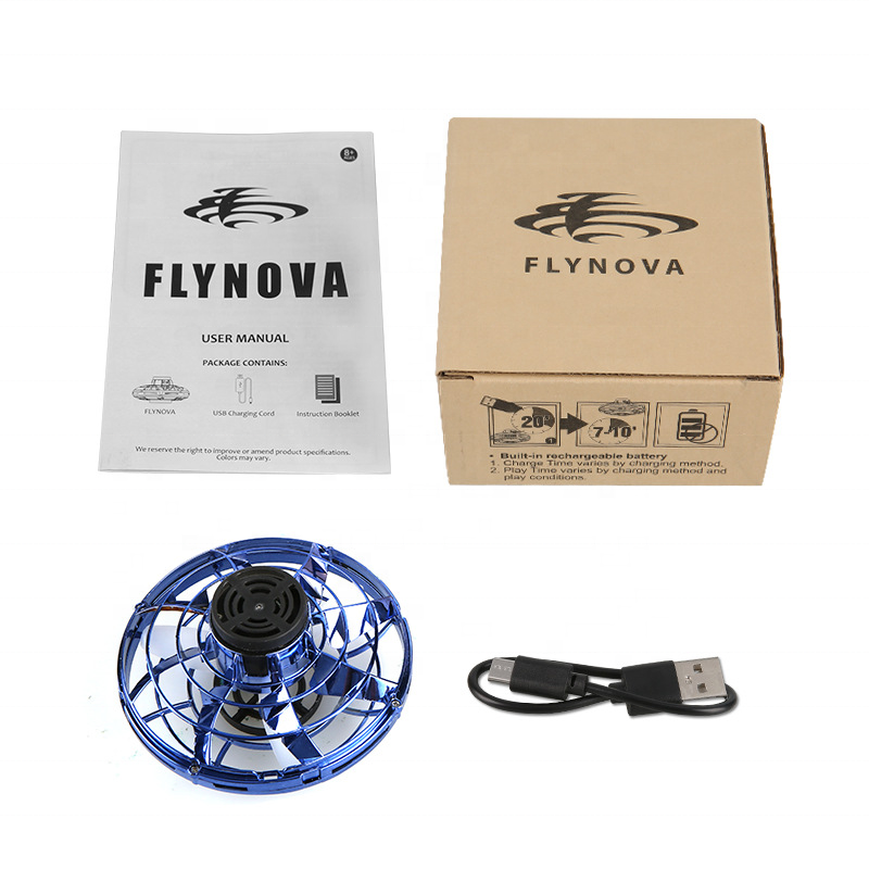 Inductive Aircraft FlyNova, Flying Spinner Toy, Hand Operated Drones for Kids or Adults Scoot Hands Free Mini Drone Helicopter