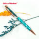 New snowflake design Japan fashion empty floating glitter pen Herbarium ballpoint pen flower pen
