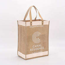 stripe  canvas recycle jute bag