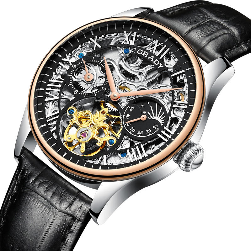 Best Cheap Automatic Mechanical Watches Stainless Steel Wristwatch Skeleton Men Watches