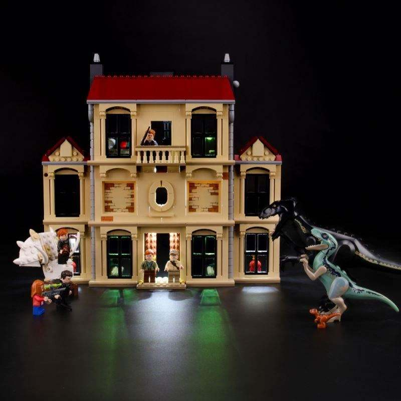 Briksmax Light Kit for Indoraptor Rampage at Lockwood Estate Set Compatible With legos 75930 - not include legos set
