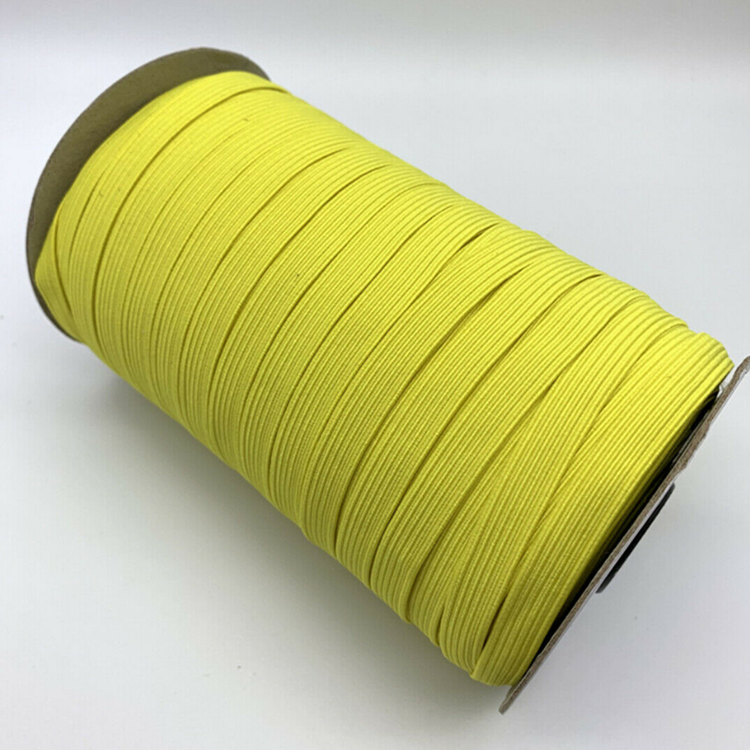 Gacent Factory Wholesale Customized Size 3MM 5MM Flat Elastic Draw Cord