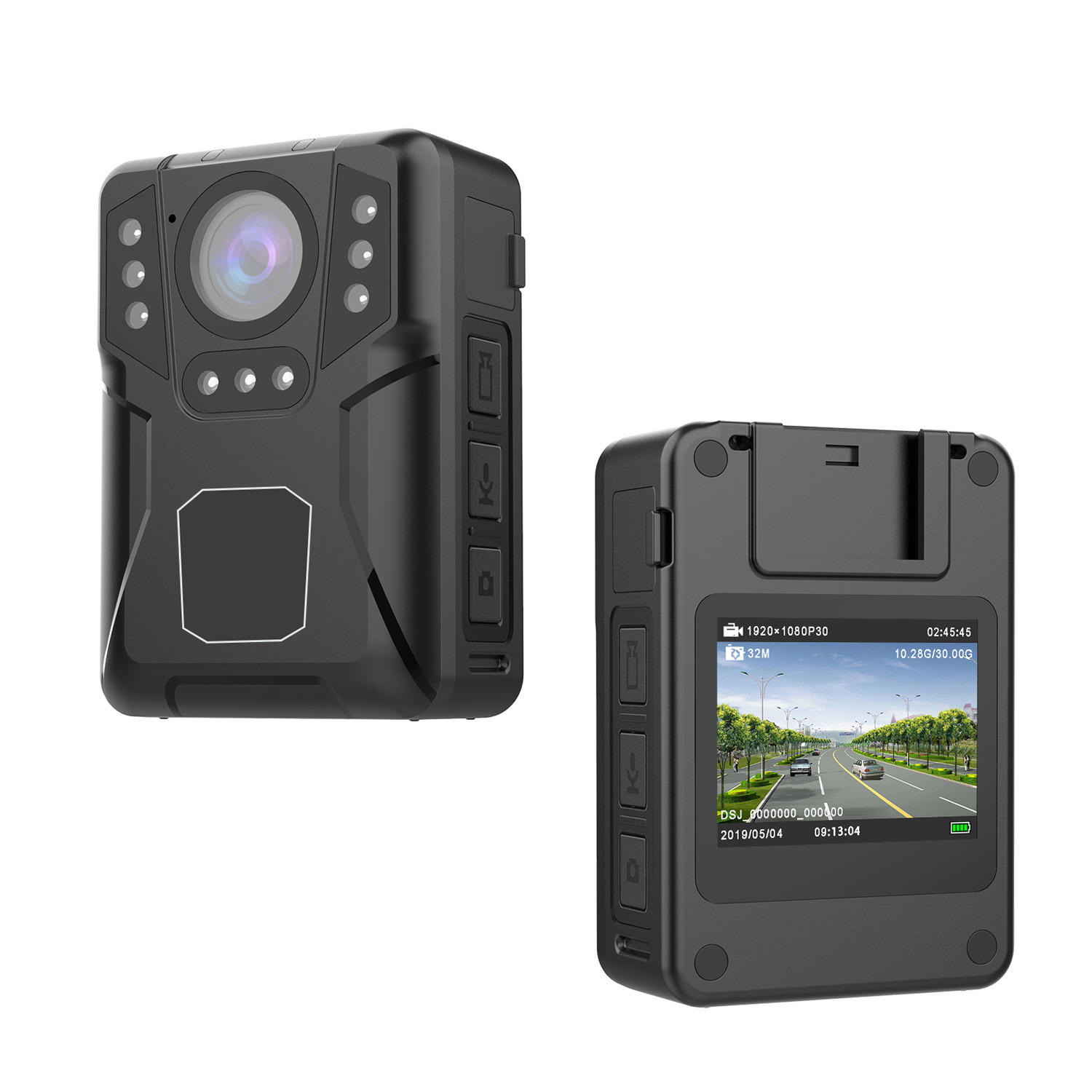 Cammpro 1440P ir auto switching body temp camera motion detection loop recording video body worn camera