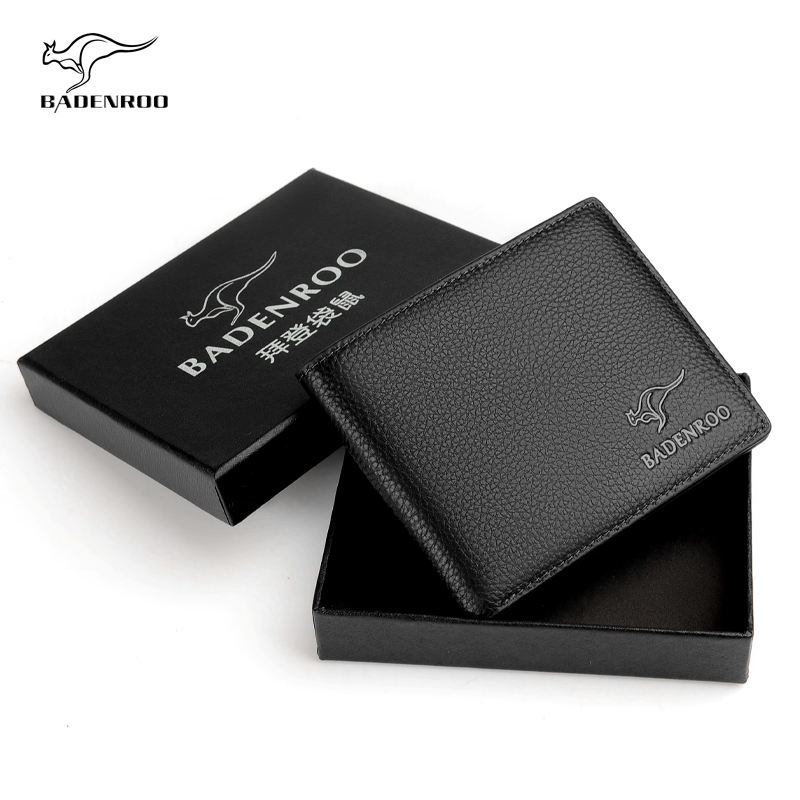 Hot sales high quality genuine leather Bifold Classic Man Wallet Leather Quality Genuine Leather Wallet for Men wallets slim