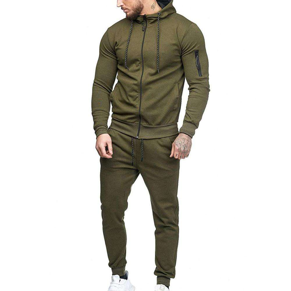 Mens Thermal Slim Fit Zip Up Sweat Jogging Tracksuit Wholesale Sports Gym Athletic Sweat Suit