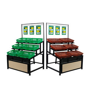 Supermarkt apparatuur rack houten plank fruit groente display rack