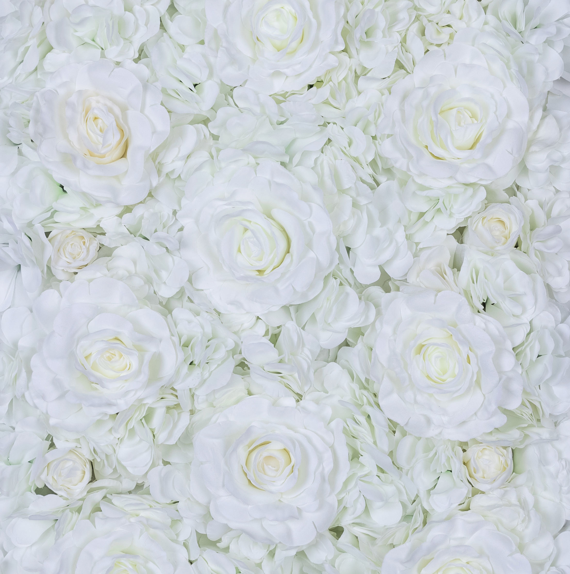 High Quality White Artificial Flower Wall Silk Rose Wall Panels For Wedding backdrop