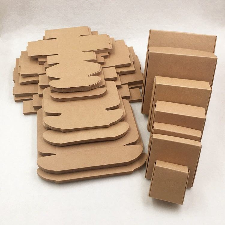 Recycled Kraft Blank Gift Storage Wrap Package Carton Cardboard Craft Paper Boxes