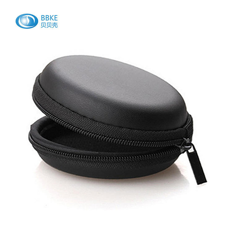 Eva Bag Molded Hard Case For Headphone Round Headphone Bag Box Waterproof Carrying Storage Eva Earphone Headphone Case Bag