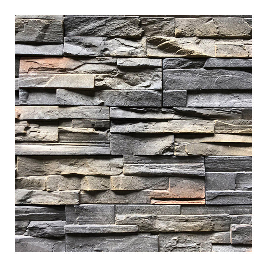 artificial grey reef rock wall tile culture stone 3d solid surface ledgestone decorative faux wall stone veneer custom china