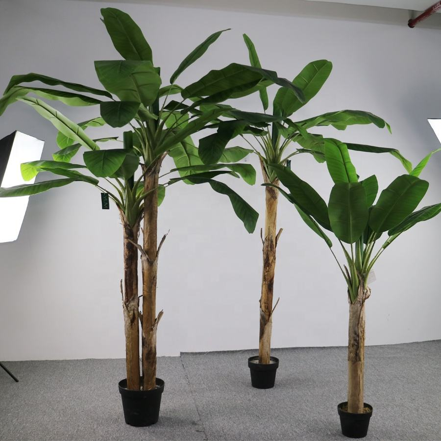 Real touch artificial banana trees in different sizes