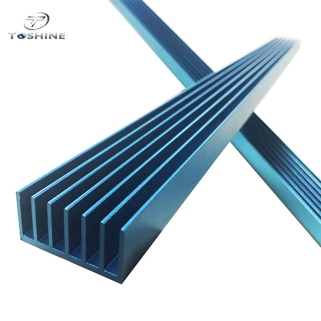 aluminum extrusition anodizing blue heat sinks