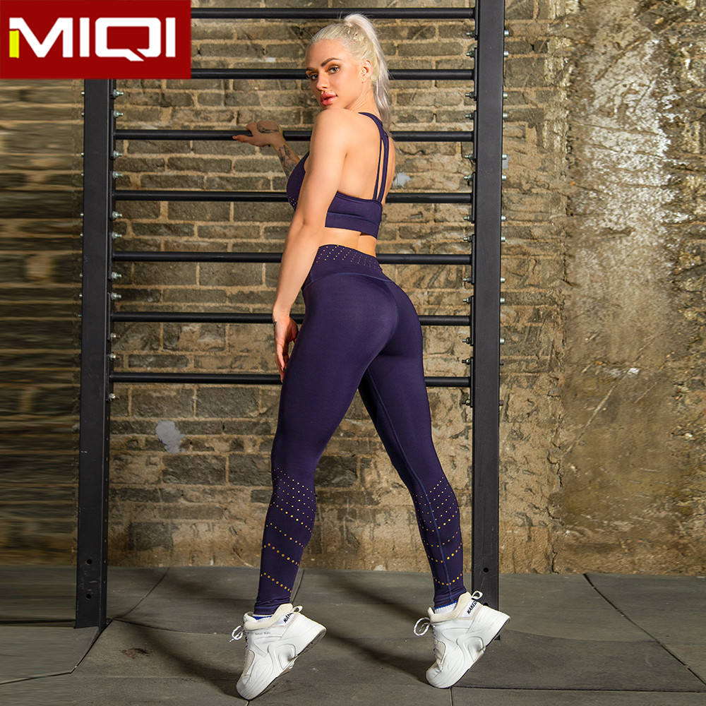 MIQI Blank Push Up Compression Yoga Apparel Clothing Wholesale Sportswear Women Workout Fitness Gym Suits for Women