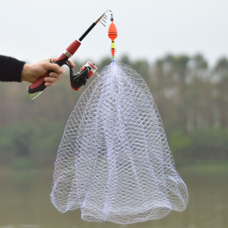 Copper Spring Shoal Fishing Net with Night Luminous Beads Ball Bearing Solid Ring Fishing Connector Freshwater Fishing Tool