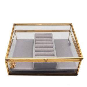 Wedding favor decorative high quality custom wholesale jewelry glass gift box