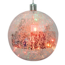 Outdoor Christmas Party Ornament Lighting PET Ball Ornament