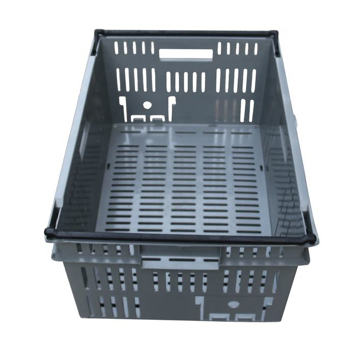 JOIN Fruit and Vegetable Basket Plastic Moving Storage Nest Stack Crates Colored Box Mesh 600*400mm for Agriculture Harvest