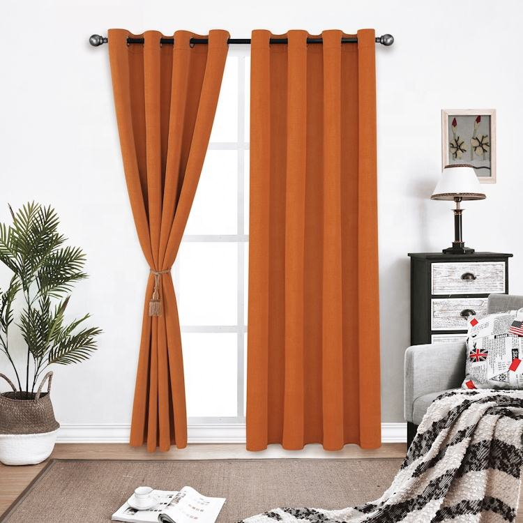 Manufacture Blackout Drape Solid Dyed New Model Design Drawing Room Window Curtain Decor