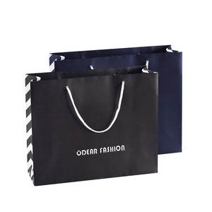 supplier Wholesale Luxury Brown Black Small Shopping Packaging Bag Craft Custom Logo jewelry Kraft Gift Paper Bag With Handle