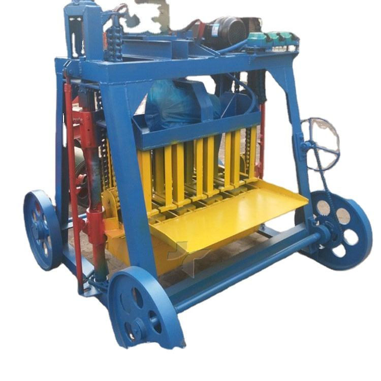 Small Type Movable Laying Egg Concrete Hollow Bricks Block Making Machine Price In South Africa