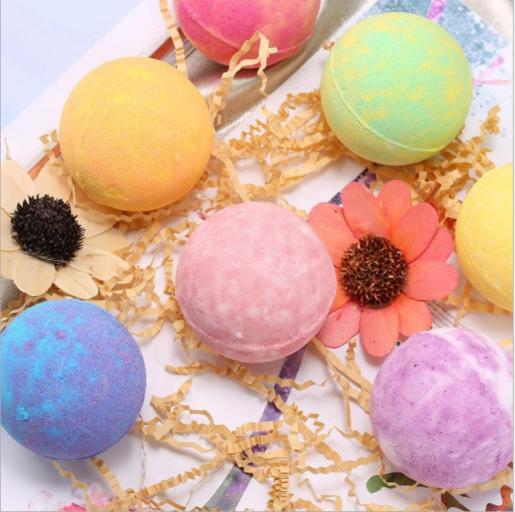 Organic Custom Bath Bomb Gift Set 12 Natural Colorful Bubble Rainbow Bath Bombs Kit For Kids Women