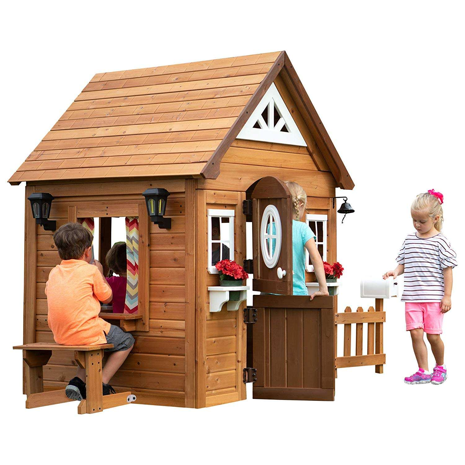 2021 4-5 people outdoor kids playhouse garden wood