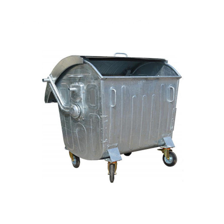 outdoor Garbage containers 1100 l galvanized waste bin with cover