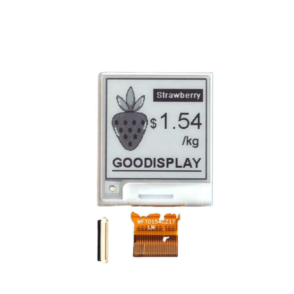 1.5/1.54 inch Square e ink 4 grayscale epaper with partial refesh for wearable device