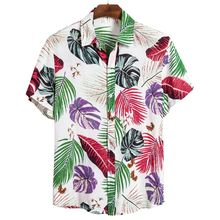 Flower Shirt Seaside Beach 100 Cotton Chemise De Plage Short Sleeve Wholesale Hawaiian Shirts For Men